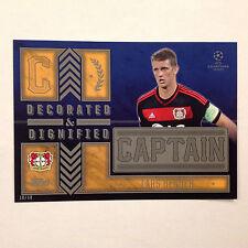 LARS BENDER Leverkusen Captain D&D #/10 Made 2016 Topps Champions UEFA 5X7 GOLD