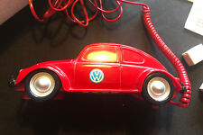 Vintage 1988 Volkswagen VW Beetle Dial Up Telephone Red by Columbia Retro Phone