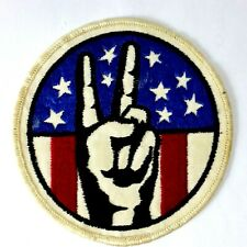 PEACE USA America FLAG Sew On Woven Embroidered Cloth Collectable Patch Badge