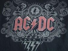 ACDC Classic Rock Black Ice Concert Black T Shirt Adult Size M
