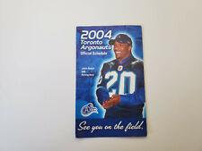 RS20 Toronto Argonauts 2004 CFL Football Pocket Schedule - Mojo Radio