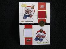 BRUNET/ZHOLTOK/ZUBRUS/DAHLEN 01/02 HEADS UP 4-COLOR QUAD JERSEY PATCH CARD