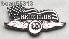 BROS CLUB BIKER JACKET VEST HAT TAC CHROME PIN