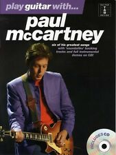 Play Guitar With Paul McCartney Learn to Play Jet TAB Music Book & CD