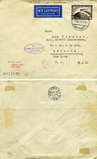 Brief Luftschiff LZ 127 Graf Zeppelin 7.10.1928 America Flight Cover New York