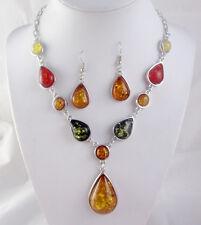 Precious Modernist amber Handmade Gemstone Jewellery NECKLACE  P11