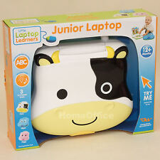 Baby's Musical Play and Learn Laptop Baby Toy Cow Themed 12 Months Plus