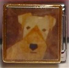 IRISH TERRIER PAINTED PORTRAIT DOG ENAMEL ITALIAN CHARM 9MM CLASSIC DIY BRACELET