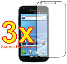3x Clear LCD Screen Protector Guard Cover Film (T-Mobile) Samsung Galaxy S2 T989
