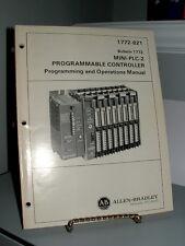 Allen Bradley PLC2 PLC Programmable Logic Controller Manual 1772-821
