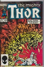 The Mighty Thor 344 Balder--The Brave? 1984 VERY HIGH GRADE!! raw!  W-OW pages!!