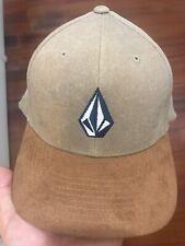 VOLCOM Flexfit Hat Cap Suede Visor Small - Medium