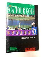 PGA Tour Golf ORIGINAL SNES SUPER NINTENDO Instruction Manual Booklet Book ONLY!