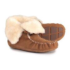 ACORN Womens Sheepskin Moxie Bootie Slipper,Chestnut Size 7 NIB