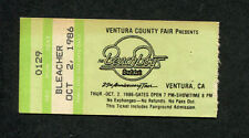 1986 Beach Boys Concert Ticket Stub Ventura Ca Surfin Safari