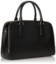 MICHAEL KORS LEDERTASCHE/BAG REESE LG SATCHEL black/schwarz