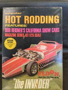 THE INVADER BOB REISNER Eldon Kit 1/25 Scale Model Plastic Car Pop Hot Rodding
