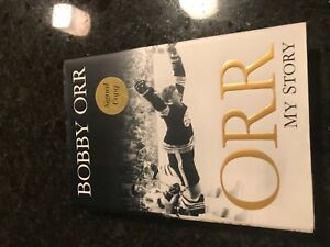 Bobby Orr My Story Biography Signed Copy great item Boston Bruins stamped
