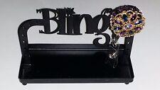 Crystals &  GEMSTONE Jewelry I.D./Badge Holder Purple/Blue!