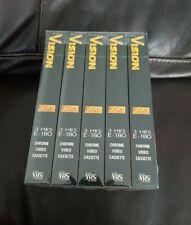 5 x VHS Video Tape Cassette New Factory Sealed  BASF Vision E180