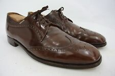 Alan McAfee England Macaflex Men's Patent Leather Wingtip Oxford Shoes 11.5 C