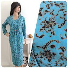 Vintage 1950s 60s Oriental Cotton Suit Wiggle Skirt Top Jacket Blouse 50s 6 8 34