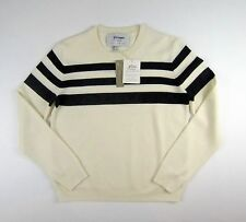 NWT J Crew for Net-A-Porter Mixed Stripe Crewneck Sweater Sz S Navy $98 F6672