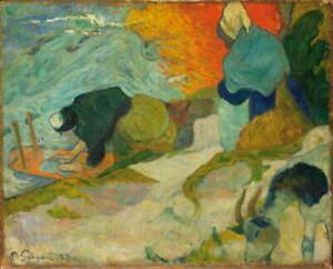 Paul Gauguin Washerwomen in Arles Giclee Art Paper Print Poster Reproduction