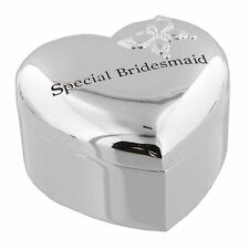 Silverplated Heart Trinket Box - 'Special Bridesmaid' WG444 by Juliana  Silver