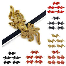 5 Pairs Handmade Chinese Knot Button Goldfish Design Frog Closures Sewing Decor