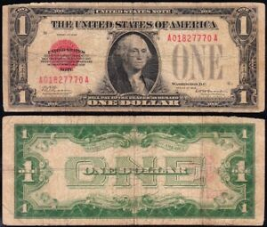 *SCARCE* 1928 $1 RED SEAL United States Note! FREE SHIPPING! A01827770A