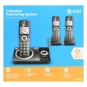 AT&T 3 Handset Answering System with Smart Call Block CL82319