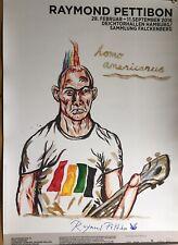 Raymond Pettibon signiert Ausstellung Poster Plakat orig. Unterschrift Autogramm