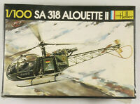 PRL) SA 318 ALOUETTE II POLIZEI MODEL 1:100 ELICOTTERO HELICOPTER HELLER POLICE