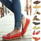 New Women Lady Leather Flat Ballet Shoes Casual Loafers Oxfords Slip On Moccasin