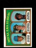 1972 TOPPS #91 TOM SEAVER/DAVE ROBERTS/DON WILSON NMMT NL ERA LEADERS  *X00403