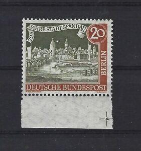 Berlin 159 mit Plattenfehler PF III postfrisch Unterrandstück