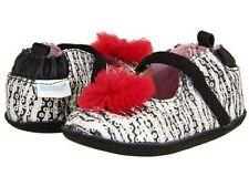 NIB Robeez Shoes Mini Shoez Buffy Black White Zebra 4 5