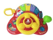 Vtech Tiny Tot Driver Steering Wheel INTERACTIVE TOY LIGHTS & SOUNDS