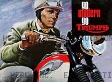 Triumph 1965 Bonneville motorcycle advertisement 8 x 10 print PRENT