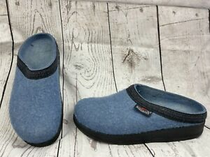 Stegmann Wool Clogs Women's Pure Comfort Shoes Slip On Warmth Size 9 Blue