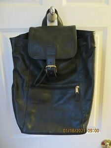 COACH Large Black Leather Backpack