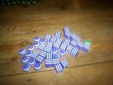 40 Violet CUBES ET BOULES PERLES 17 cms Pour Collier Artisanat etc NEUF