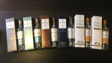 Macallan boxes and empty bottles (10 Fine, 15 Fine, 12 Sherry, 12 Double, Amber)