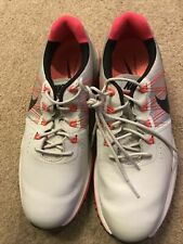 New listing Nike Lunar Control 3 Off White And Orange Golf Shoes Size 8.5 P47