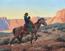 Maynard Dixon Navajo Mother Canvas Print 16 x 20    #3694