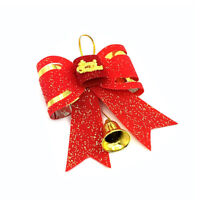 Best Christmas Tree Decors Bow Christmas Ornaments Knot Flowers With Bell RR