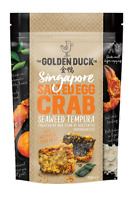 The Golden Duck Gourmet Salted Egg Crab Seaweed Tempura Chips Crisps 110g 3.9oz