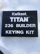 Kwikset Titan 236 Builder Keying Kit Pre Ownedbihuvy