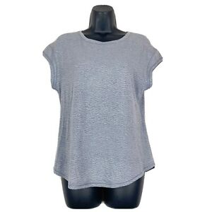 Lululemon Women's Scoop Neck Animal Print Gray Top Short Sleeve Sz 6/8tee Shirt